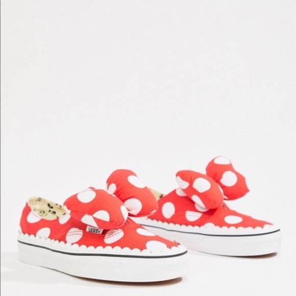 d5cb22242c53 Vans X Disney Authentic Gore red spot sneakers